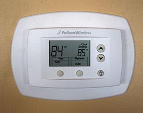 Pelican Mesh-network Thermostat at Raley Field