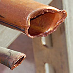 Vandalized Copper Pipe