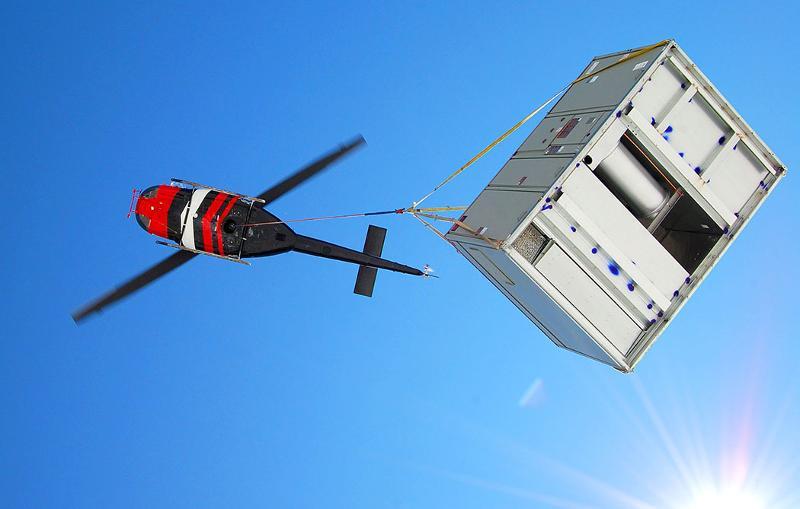 HVAC Unit Flying Overhead at Amazon Distribution Center