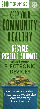 Recycle your old electronics