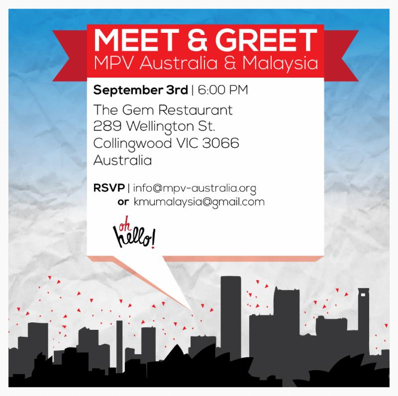 MPV Australia and Malaysia meeting up!