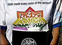 Allah made every color of the rainbow