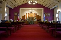 Repaired sanctuary in synagogue in Concepcion
