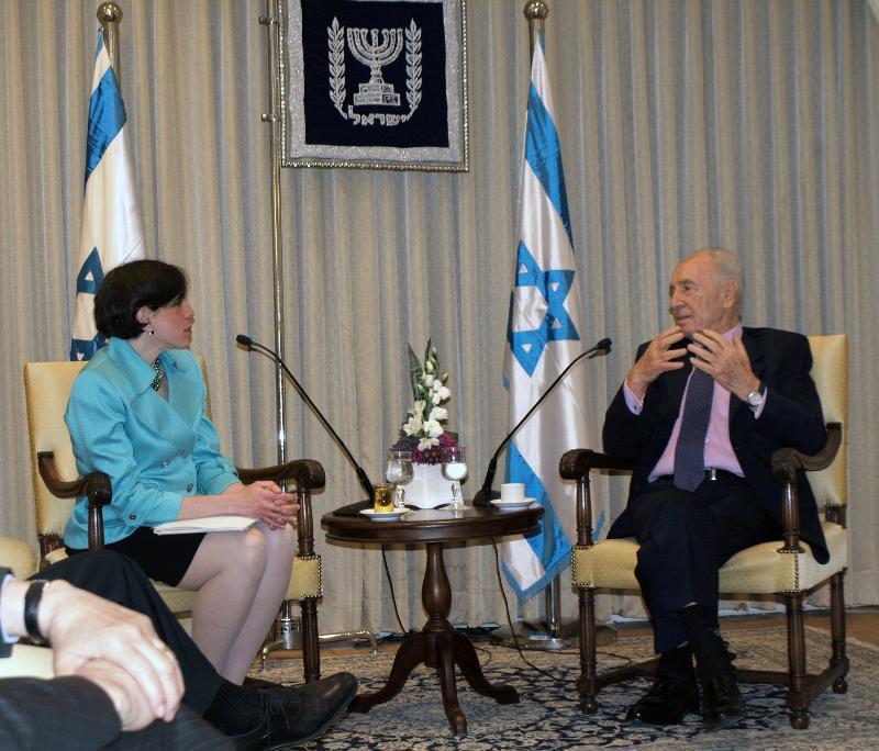 Rabbi Julie Schonfeld & President Peres