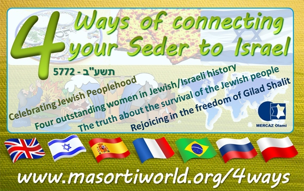 4 ways of connecting your Seder to Israel 5772