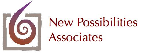 New Possibilities Associates logo type flush left