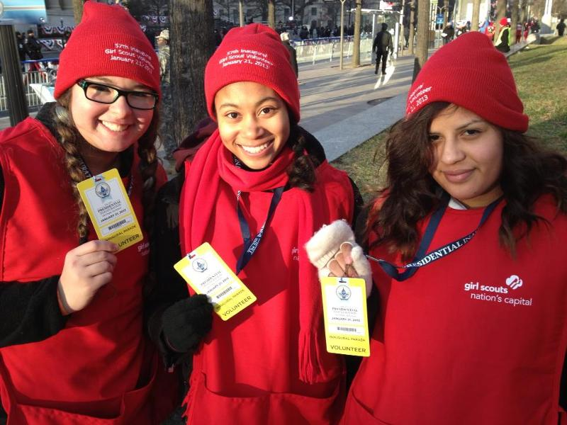 Girl Scouts Volunteer at the Presidential Inauguration