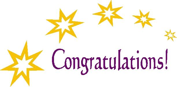 purple and gold congrats