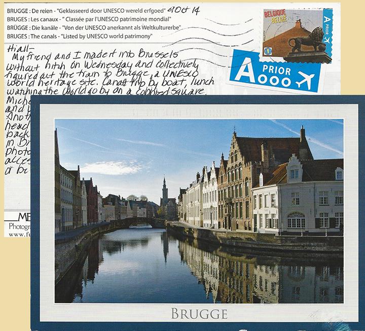 Postcard of old Brugge