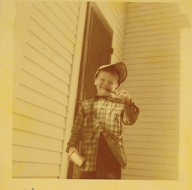 Capt John on the back porch 1950