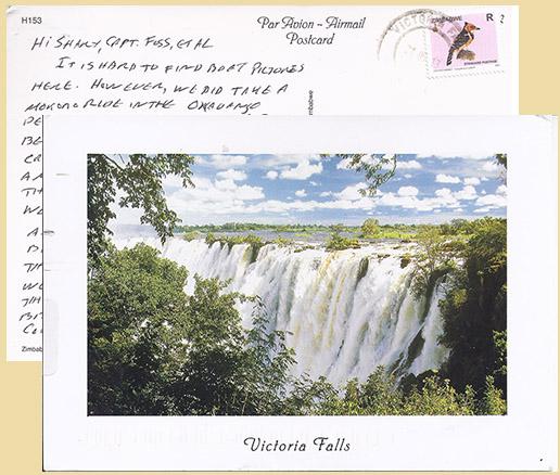 Postcard of Victoria Falls