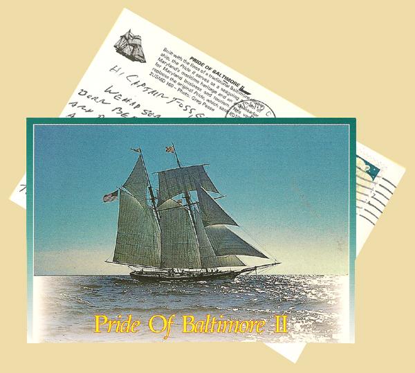 Pride of Baltimore II post card