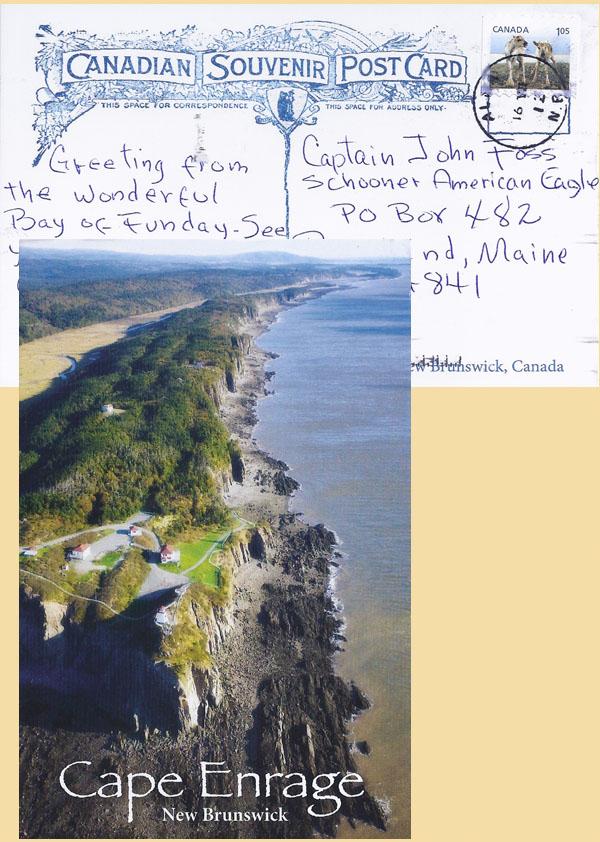 Postcard from Cape Enrage New Brunswick