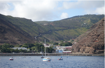 Jamestown Harbor in Saint Helena