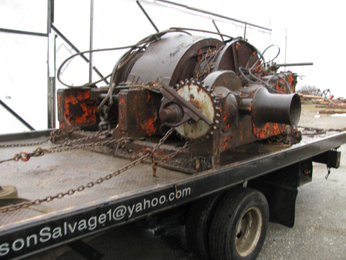 American Eagle's old trawl winch