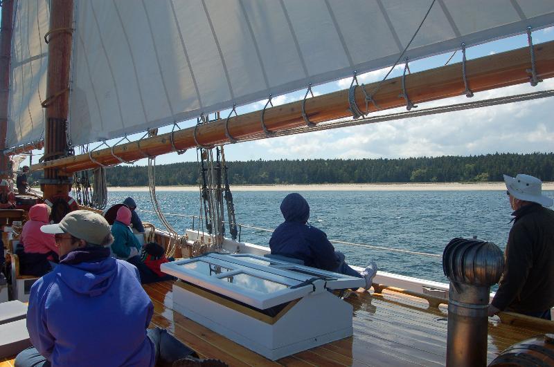 Sailing toward Roque Island June 2013