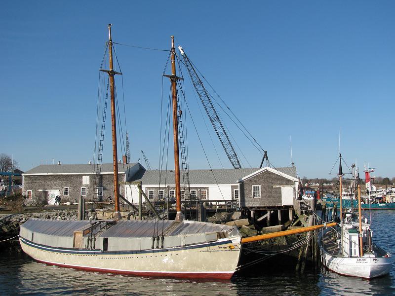 Schooner American Eagle at her dock April 2013