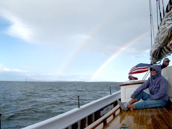 Double Rainbow on Starboard