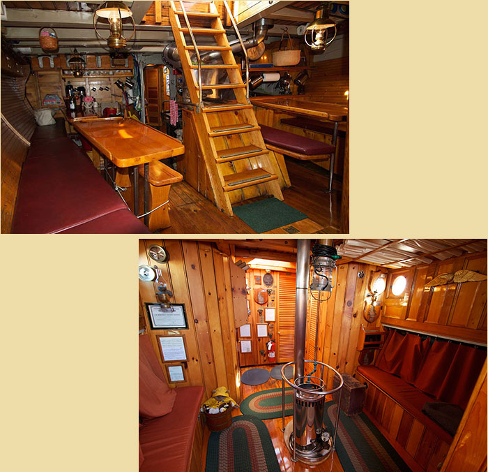 American Eagle Galley and Main Cabin