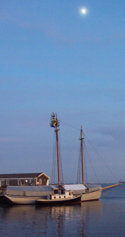 Full Moon over the Schooner and Tug