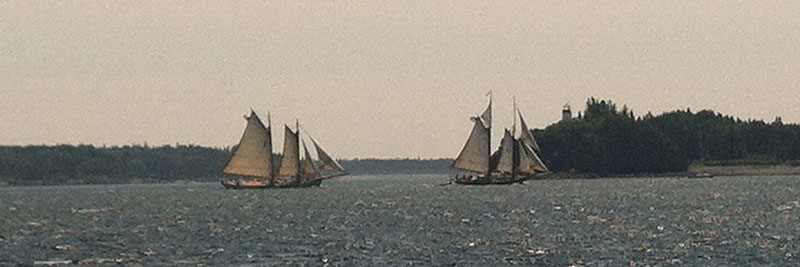 Schooner American Eagle chasing the Lewis R. French