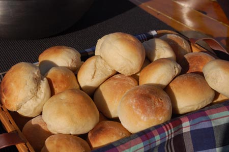 Rolls hot from the oven