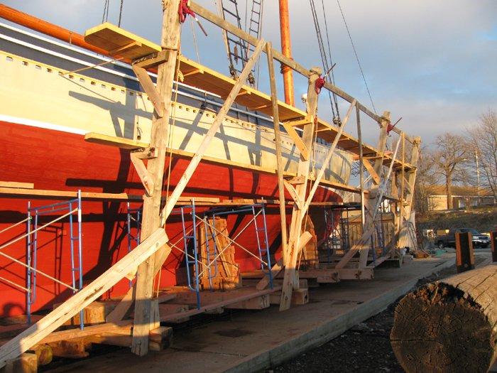 Schooner American Eagle on the marine railway