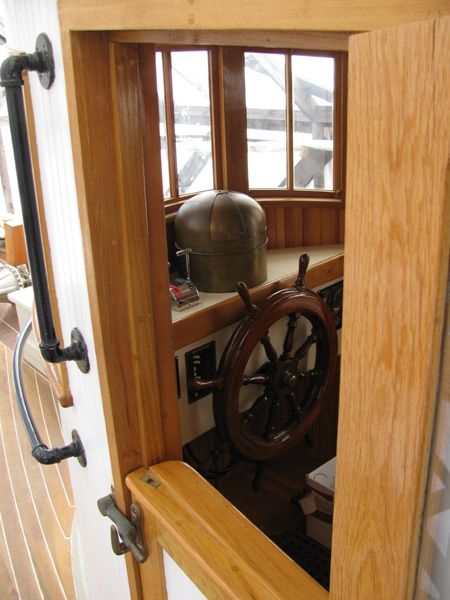 Looking into the wheel house