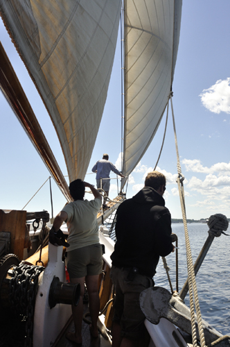Hike to the end of the bowsprit