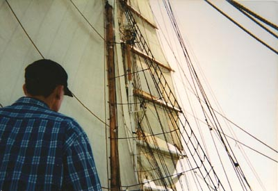 Square-rigger approaching