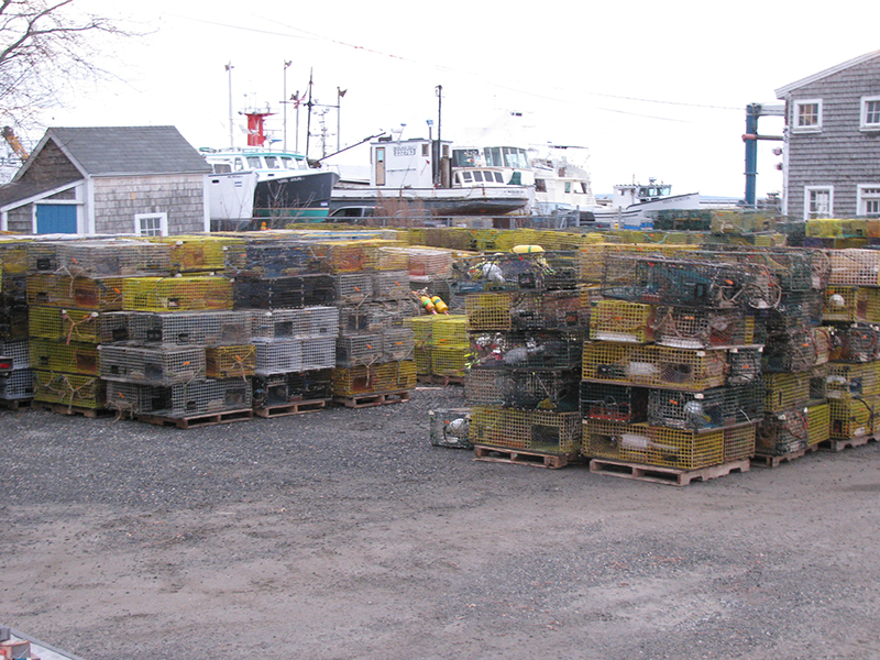 Stacks of Lobster Traps being brought in for the winter