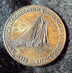 1938 commemorative medal showing the Thebaud