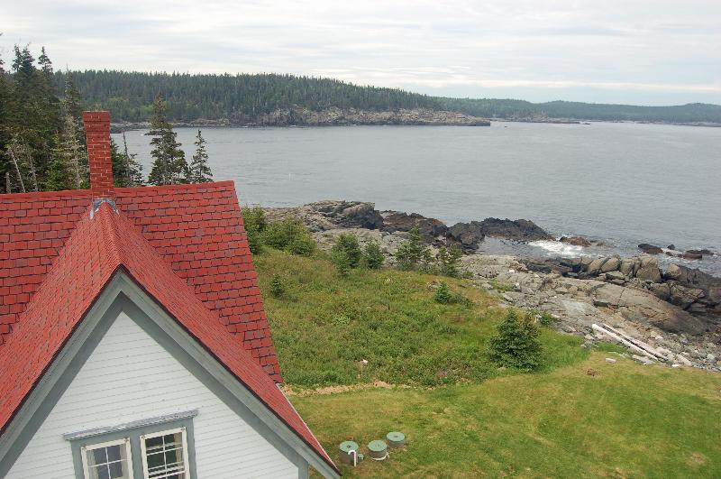 View from the lantern room of Little River Light