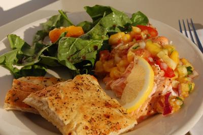 Salmon with Mango Chutney