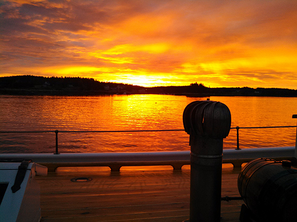 Sunset in Burnt Coat Harbor by Cynthia Tomassi