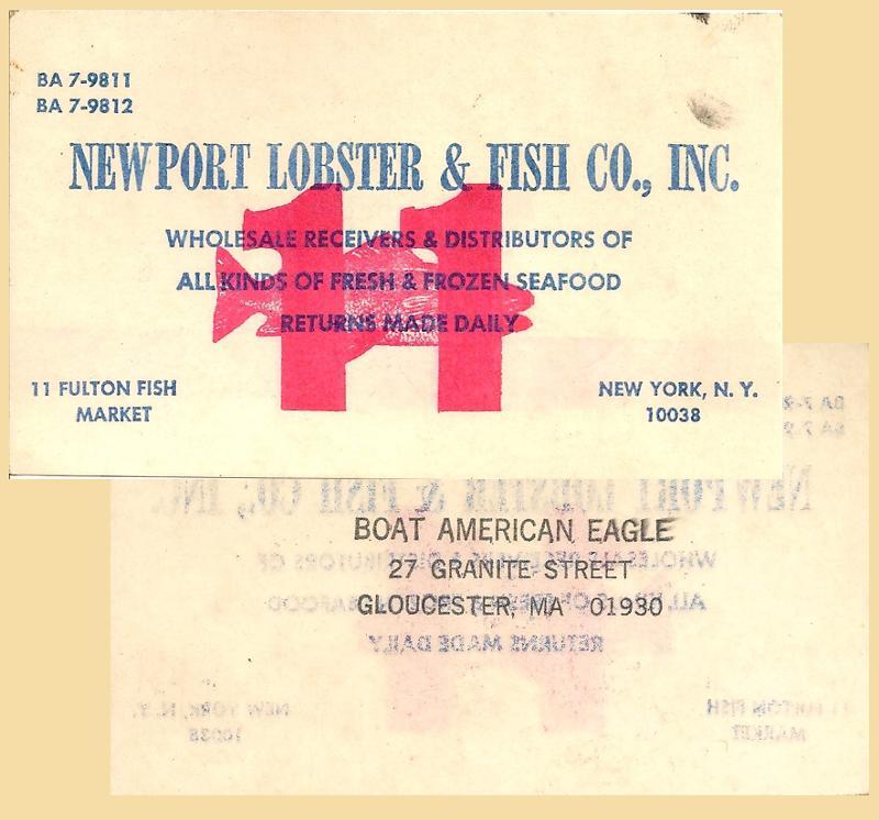 American Eagle's Fulton Fish Market Card