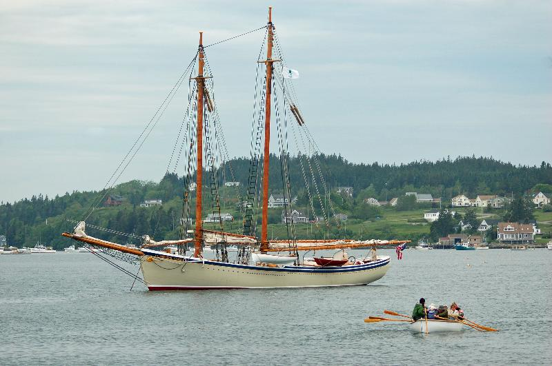American Eagle anchored in Cutler Harbor, ME