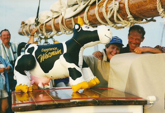 Yachting with Cows