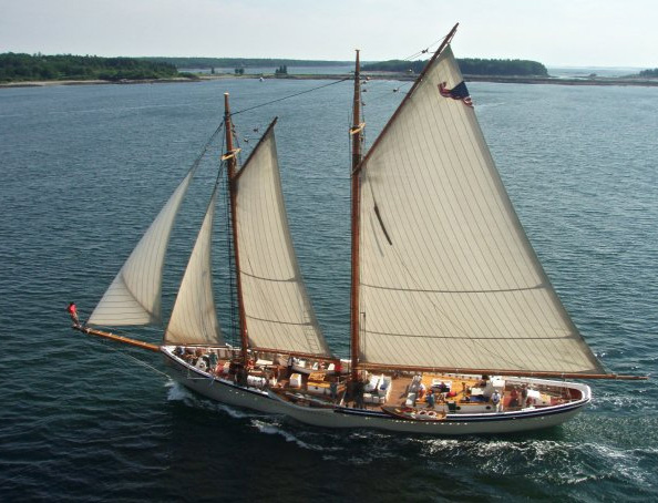Schooner American Eagle Flying Along