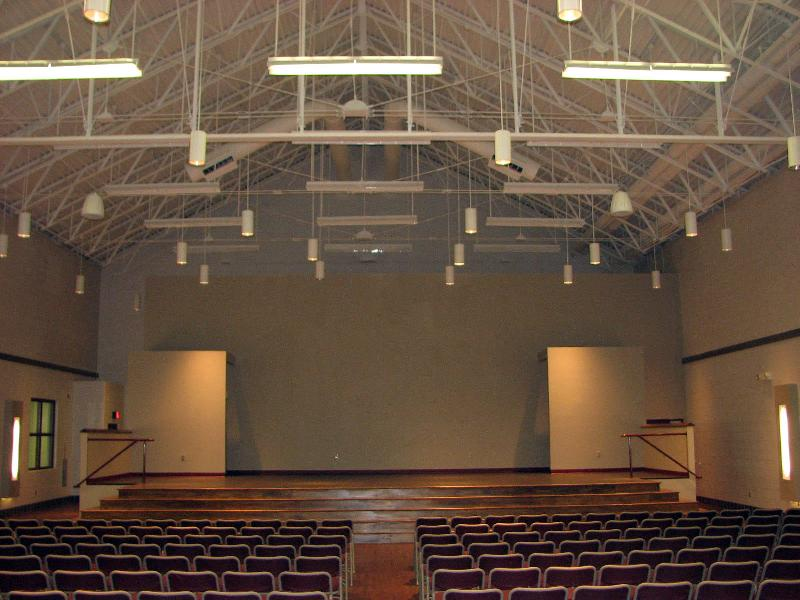 New JHS Fine Arts Auditorium - Sound Booth view of Stage