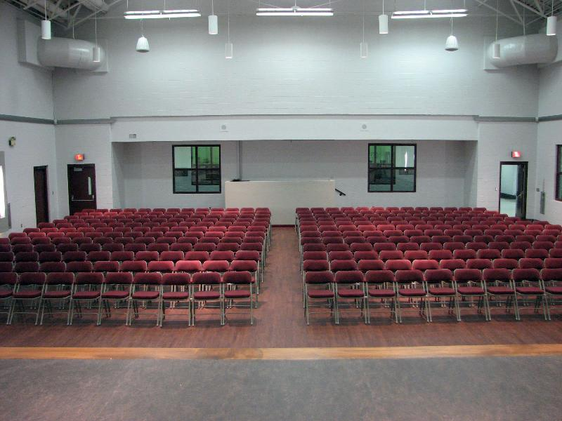 New JHS Auditorium - Stage view of Audience