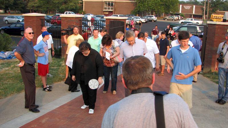 1st Walk of the Bricks of the memorial walkway