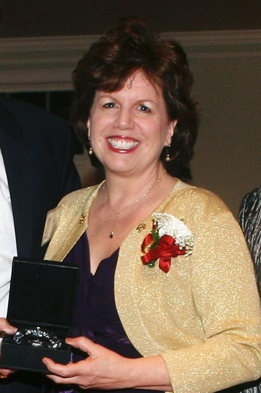 Kathie Cunningham Hill Receives her JHS 2012 Hall of Fame Award