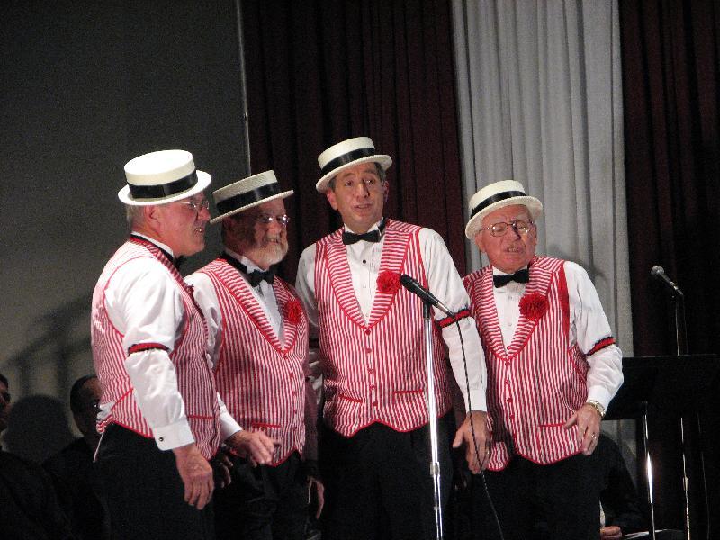 Barber shop quartet performance