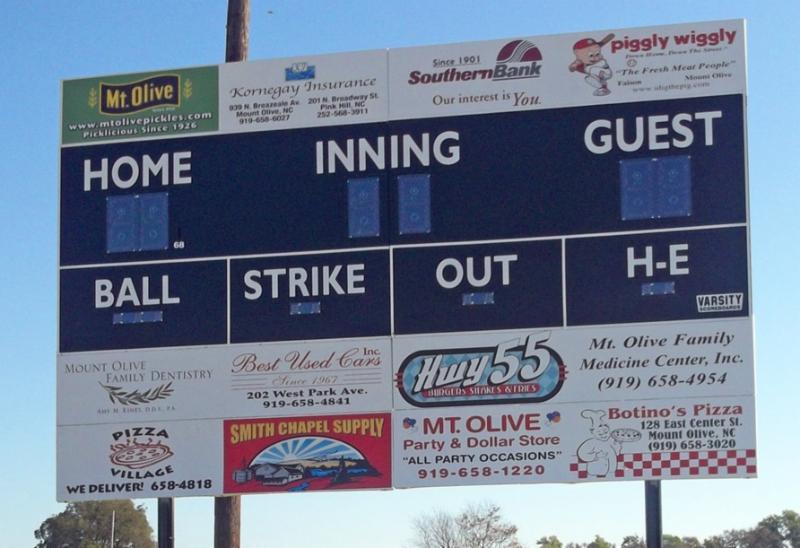 future baseball scoreboard 3385a