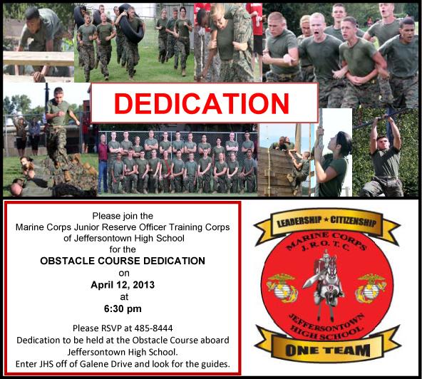 JHS JROTC Obstacle Course Dedication