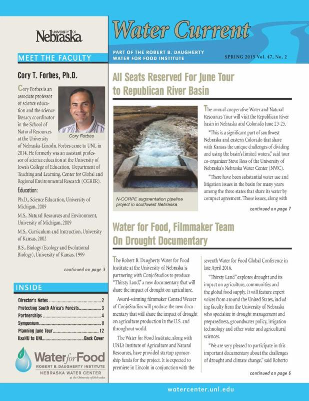 Spring 2015 Water Current newsletter