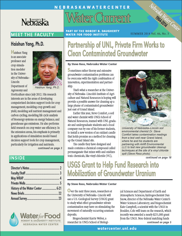 NWC Water Current Newsletter July 2014