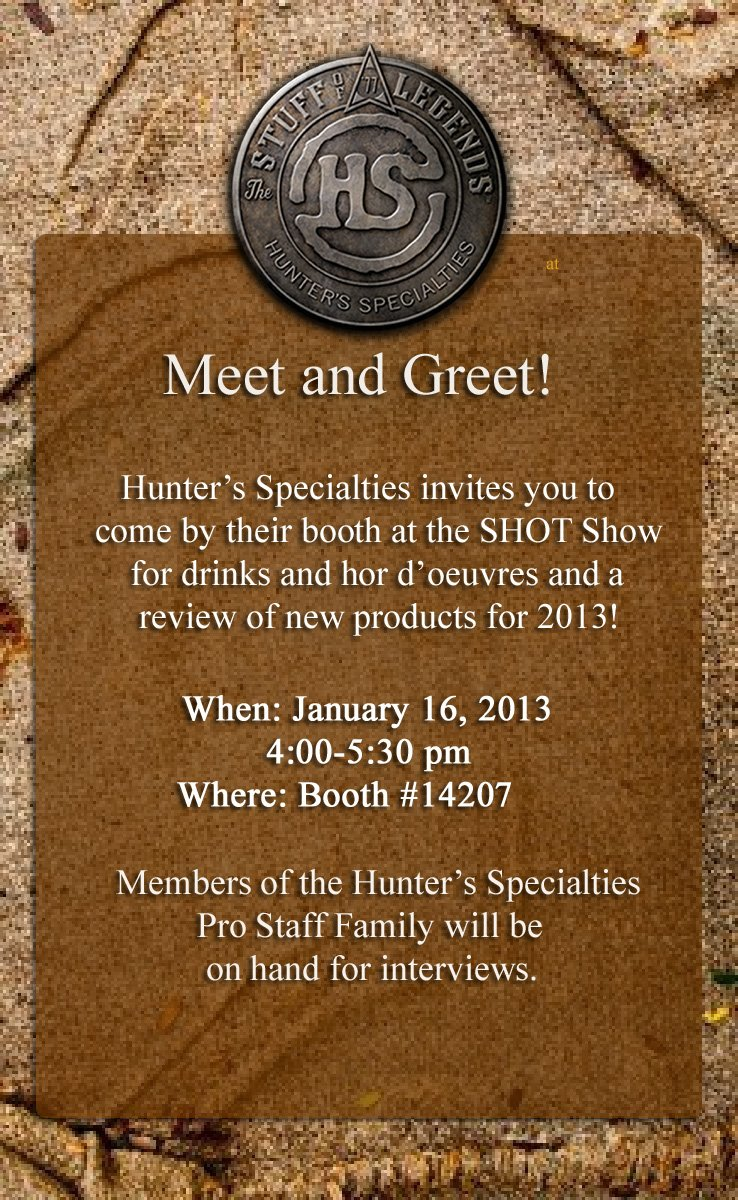 HS Invite - 2013 SHOT Show