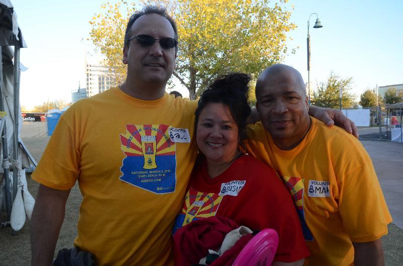 3 volunteers